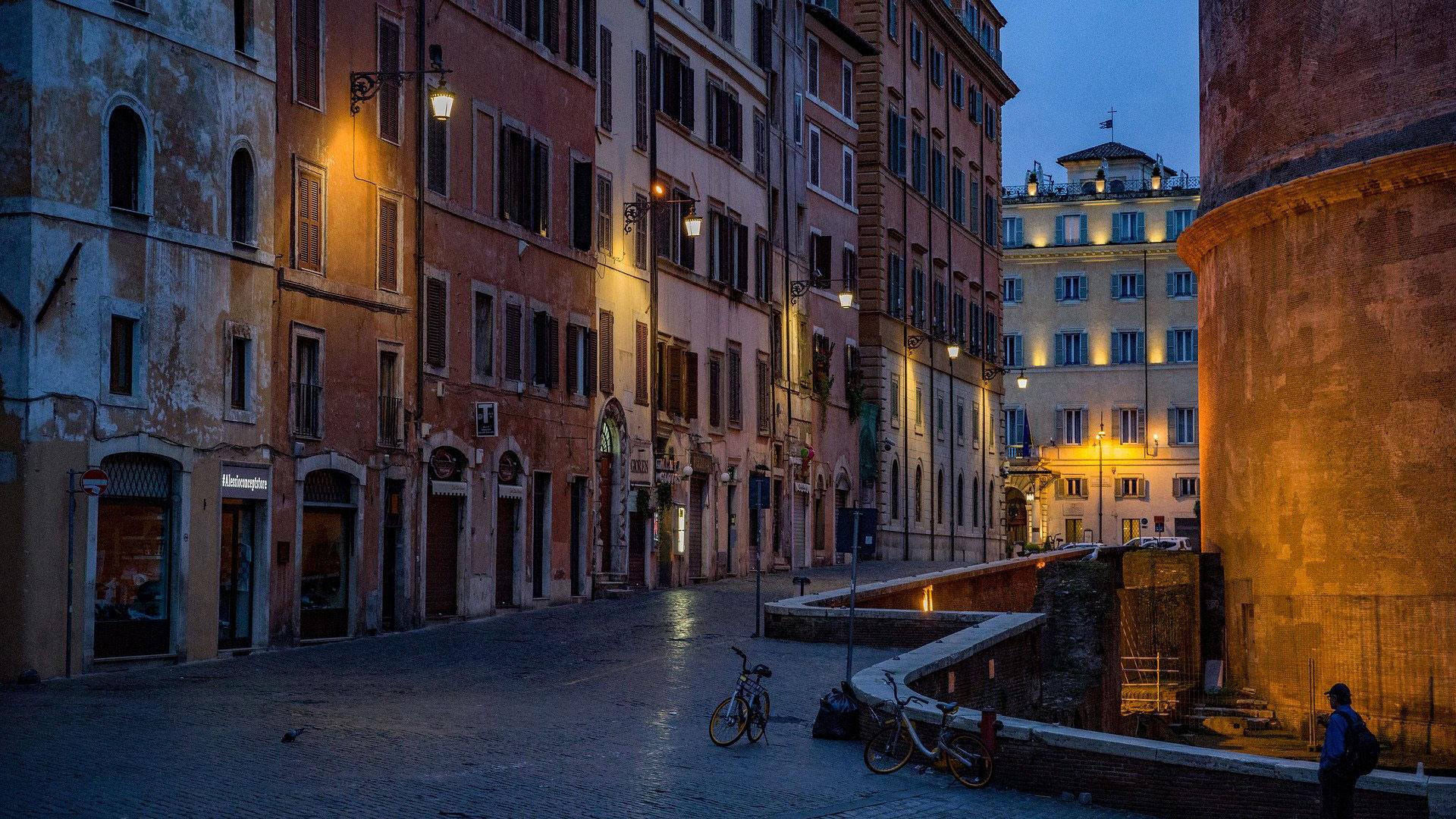 Rome Pantheon Street