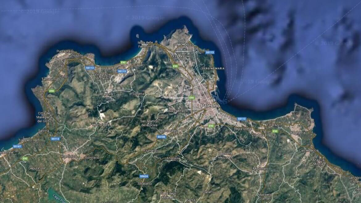 Palermo Italy Map