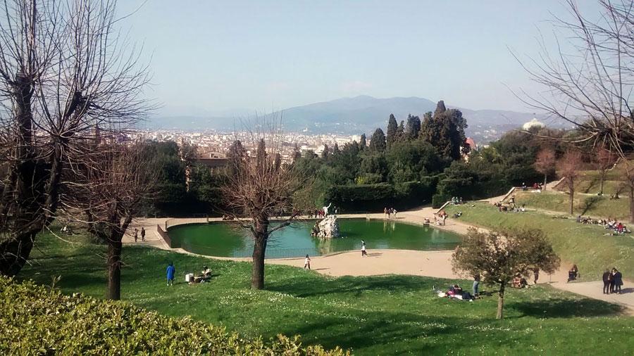 Picnic in Boboli Gardens Florence