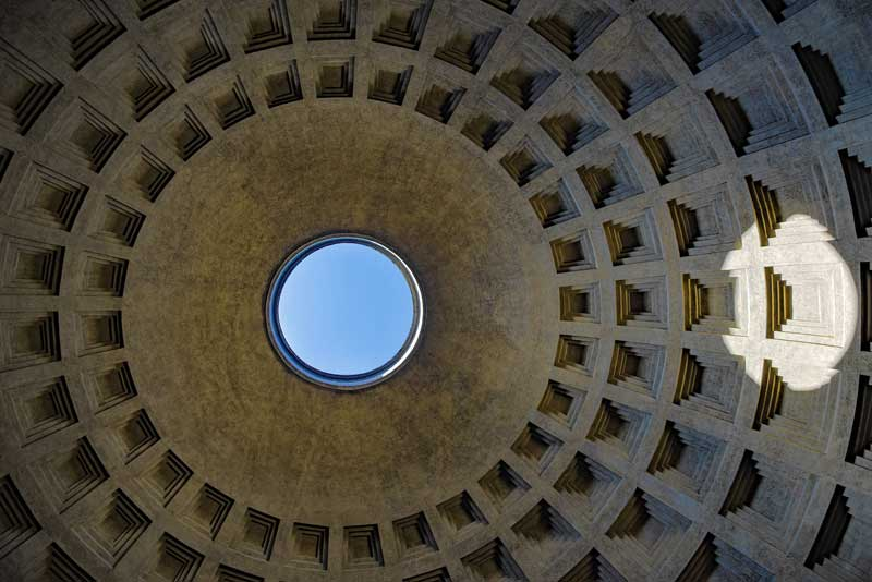 Pantheon Rome inside vault