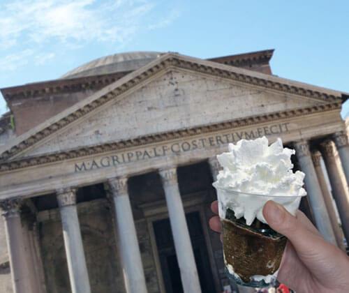 Pantheon Best coffe Granita Rome Italy