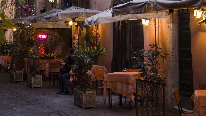 Trastevere Restaurants Rome Itinerary