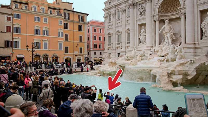 Trevi Fountain Rome Justitaly Travel Guide